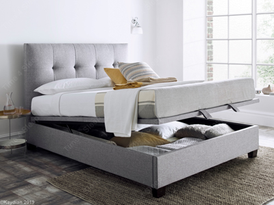 Kaydian Design Walkworth  Ottoman Bed - Marbella Grey