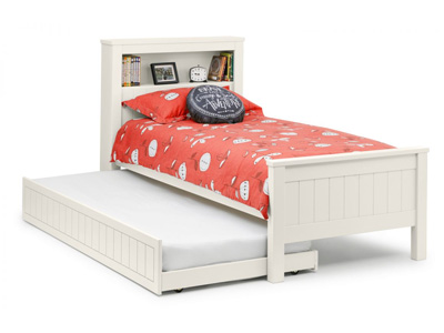 Julian Bowen Maine  Bookcase Pull Out Guest Bed - White