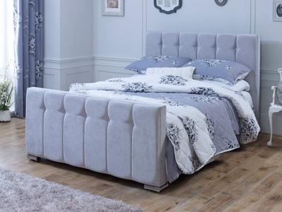 Divine Sleigh 5FT Kingsize Fabric Bedframe