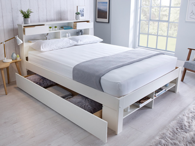 Fabio 4FT 6 Double Drawer Bed