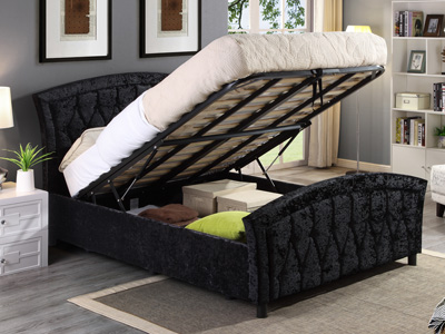 Harmony Beds Balmoral 4FT 6 Double Ottoman Bed - Black