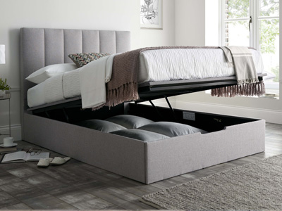 MW Kaydian Design Nova 5FT Kingsize Ottoman Bed - Silver