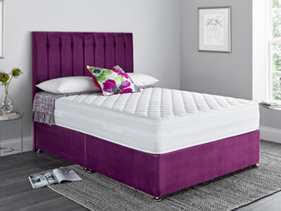 Giltedge Beds Flotech 1500 4FT Small Double Divan Bed