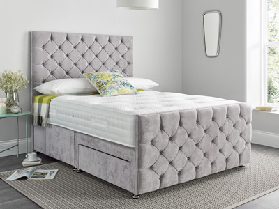 Giltedge Beds Monte Carlo 4FT Small Double Fabric Bedframe