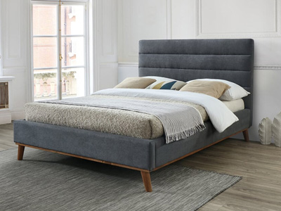 Time Living Mayfair 5FT Kingsize Fabric Bed - Dark Grey
