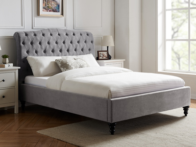 Limelight Beds Rosa  Fabric Bed Frame - Grey