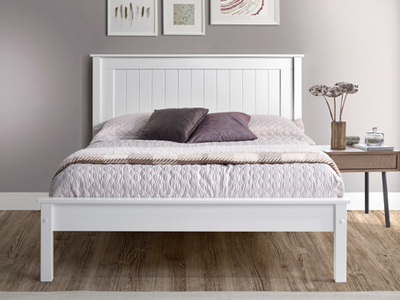 Limelight Beds Taurus Low  Wooden Bed  - White