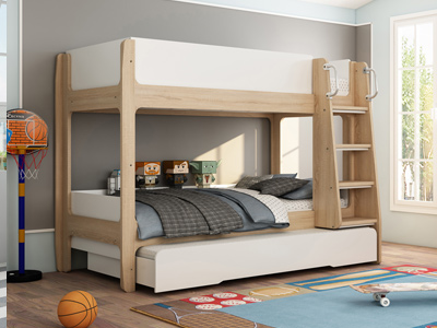Naples 527  Bunk Bed With Pull Out Trundle