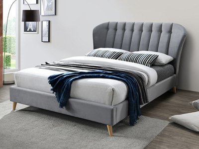 Birlea Elm  Fabric Bed Frame - Grey