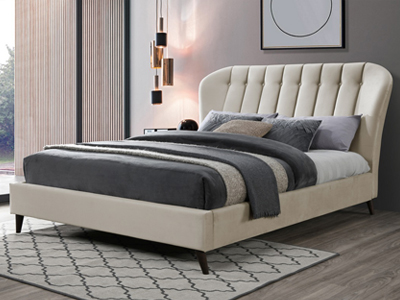 Birlea Elm  Fabric Bed  - Stone