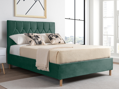 Birlea Loxley  Fabric Bed  - Green