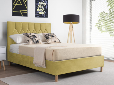 Birlea Loxley  Fabric Bed  - Mustard