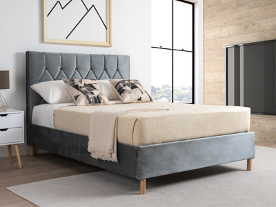 Boutique Dove Grey  Fabric Bed