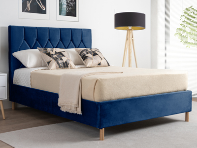 Birlea Loxley  Fabric Bed  - Blue