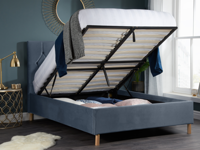 Boutique Dove Grey  Ottoman Bed