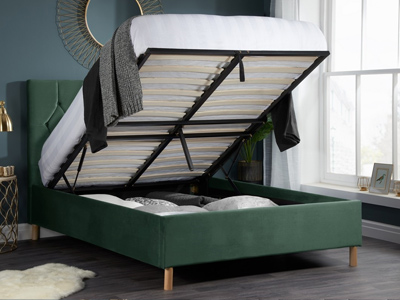 Boutique Forest Green  Ottoman Bed
