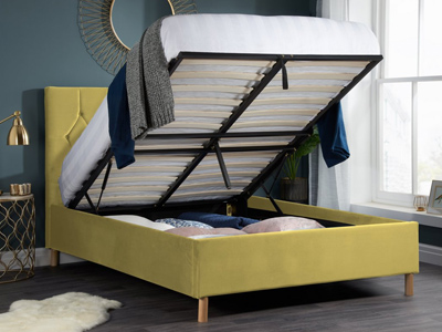 Boutique Mustard  Ottoman Bed