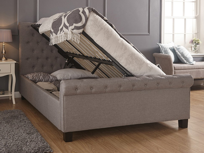 Milan Bed Company Layla  Ottoman Bed - Silver