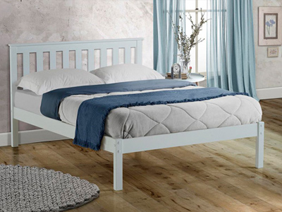 Birlea Denver  Wooden Bed  - White