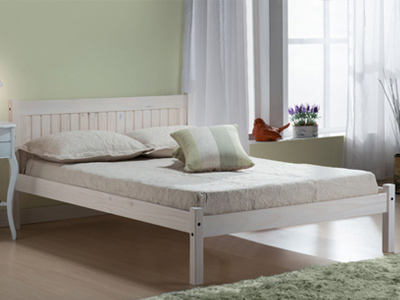 Birlea Rio  Wooden Bed  - White