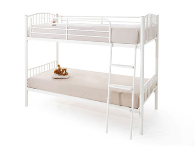 Serene Oslo  Metal Bunk Bed - White