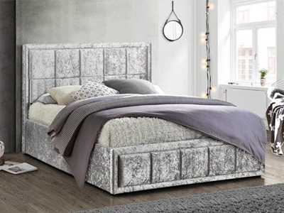 Birlea Hannover  Fabric Bed  - Steel