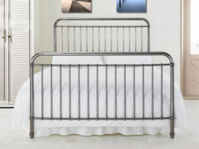 Time Living Rose  Metal Bed  - Black Nickel