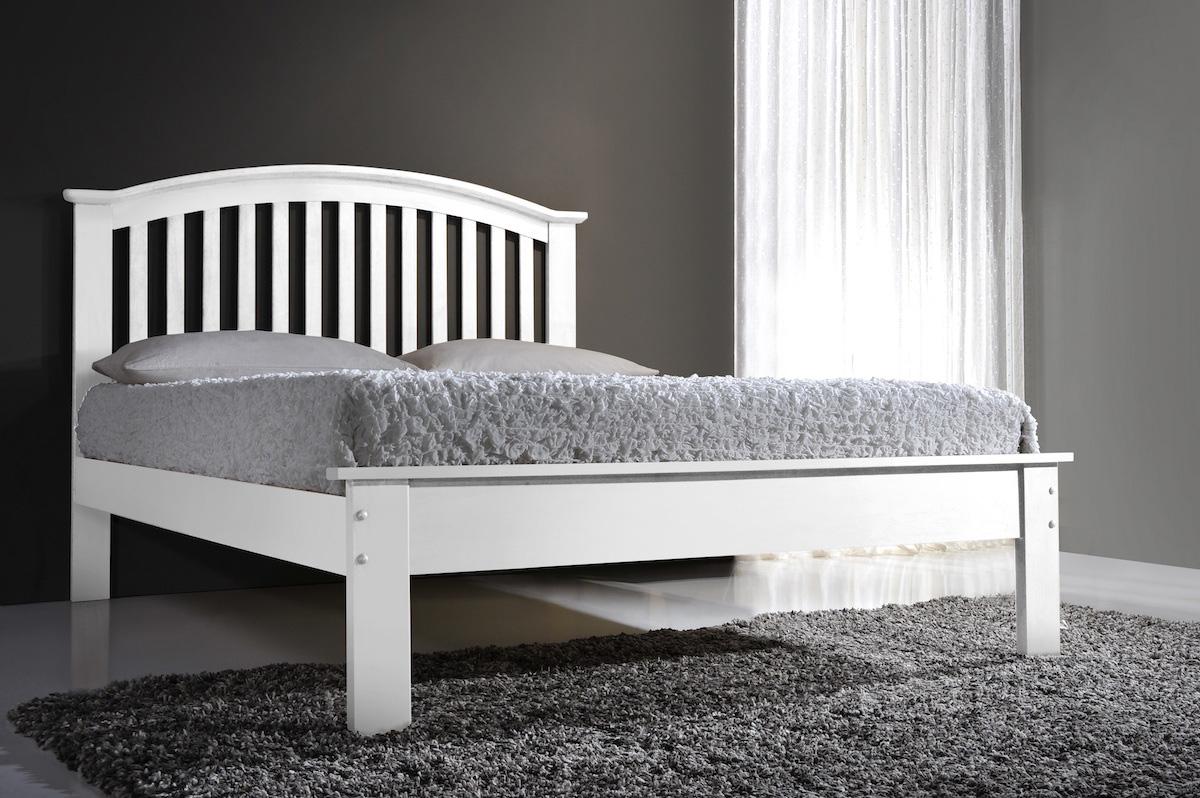 Flintshire Leeswood 5FT Kingsize Wooden Bed Frame - White
