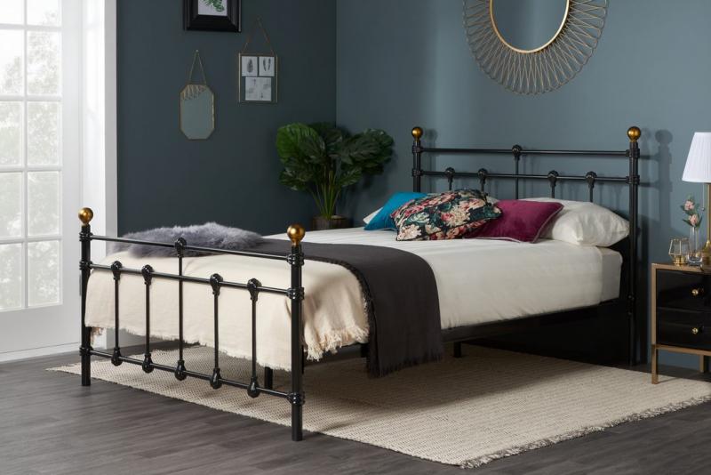 Birlea Atlas 4FT 6 Double Metal Bed Frame - Black